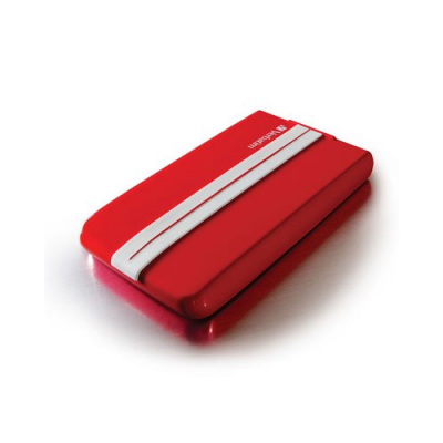 """Disque dur externe 500 Go - 2,5"""" USB 3.0 - Verbatim - Bandes GT Rouge et Blanc"""