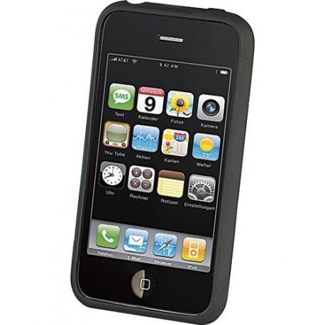 coque de protection en silicone pour iphone 3 3gs noire