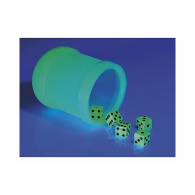 Kit phosphorescent - Gobelet et ses 5 dés