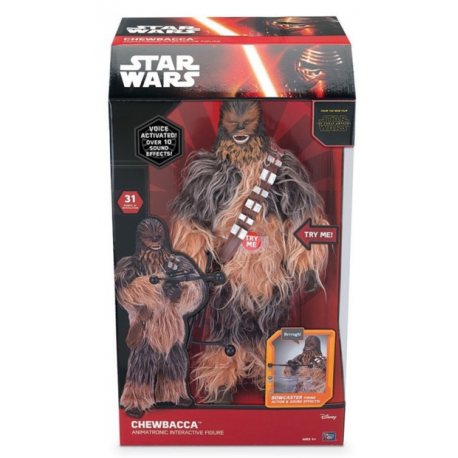 figurine parlante g ante chewbacca star wars 45 cm. Black Bedroom Furniture Sets. Home Design Ideas