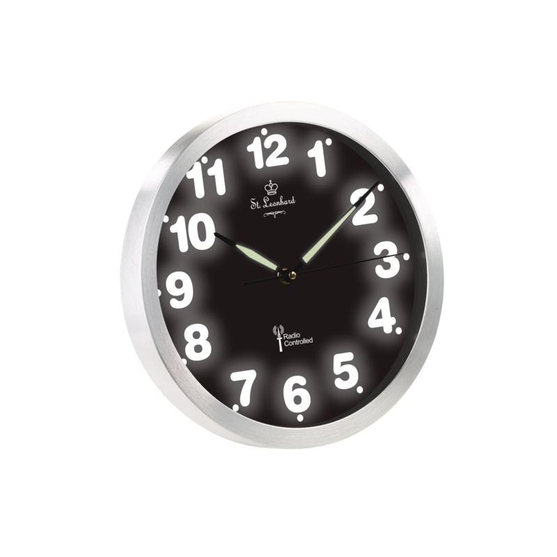 horloge murale digitale radio pilote horloge murale radio pilote en verre et bois calendrier. Black Bedroom Furniture Sets. Home Design Ideas