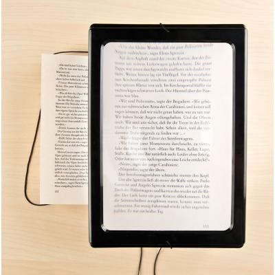 Loupe de lecture grossissement 3x et lampe à 4 led intégrée