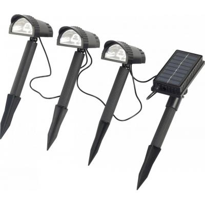 Spots led solaires et filaires pour jardin et allée (x3), accu