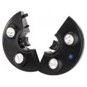 Lampe 4 spots led à piles fixation barre de parasol ou crochets
