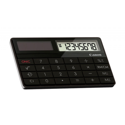 Mini calculatrice solaire design de poche : canon x-mark i
