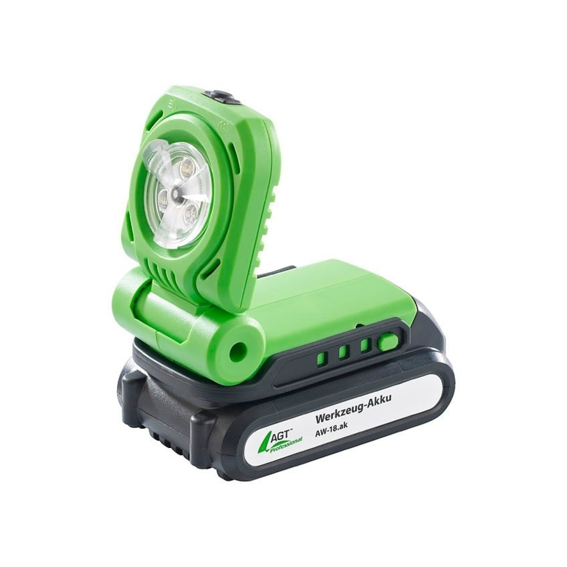 Lampe De Chantier 300lm Batterie 18v Agt Aw 18 Bl