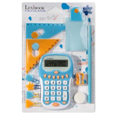 Kit calculatrice enfant lexibook accessoires (équerre, crayon...)