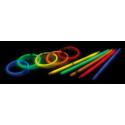 Bâtons fluo lumineux pour cocktails et fête (x 75), 5 couleurs