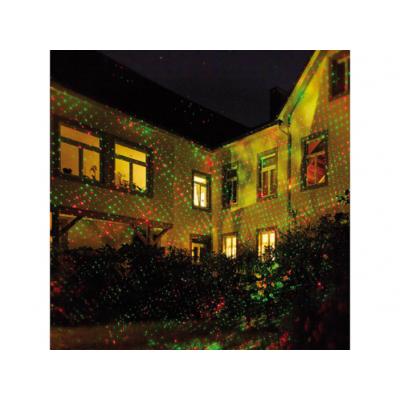 Projecteur premium laser rouge/vert pour façade effet pluie d'étoiles