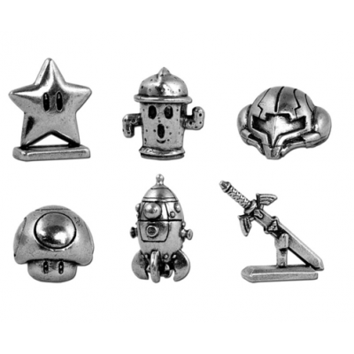 Monopoly collector nintendo 6 pions en métal et cartes spéciales