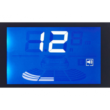 radar de recul sans fil cran sons et porte plaque d. Black Bedroom Furniture Sets. Home Design Ideas