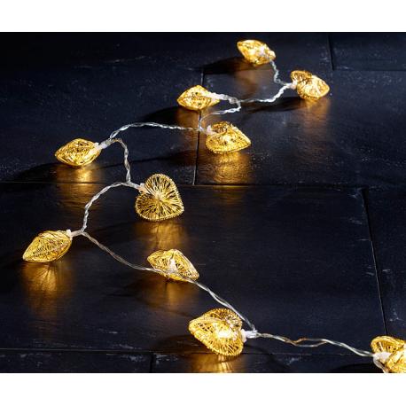 guirlande lumineuse coeurs couleur dor d co st valentin. Black Bedroom Furniture Sets. Home Design Ideas