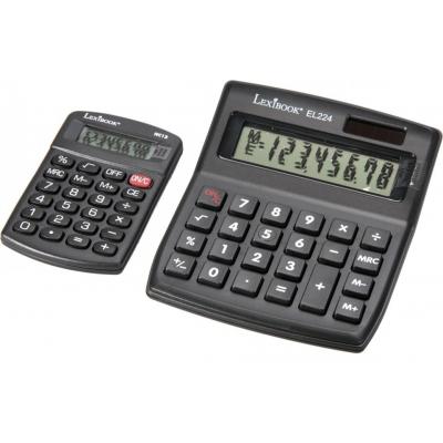 Pack de 2 calculatrices (solaire et de poche) lexibook bpc310