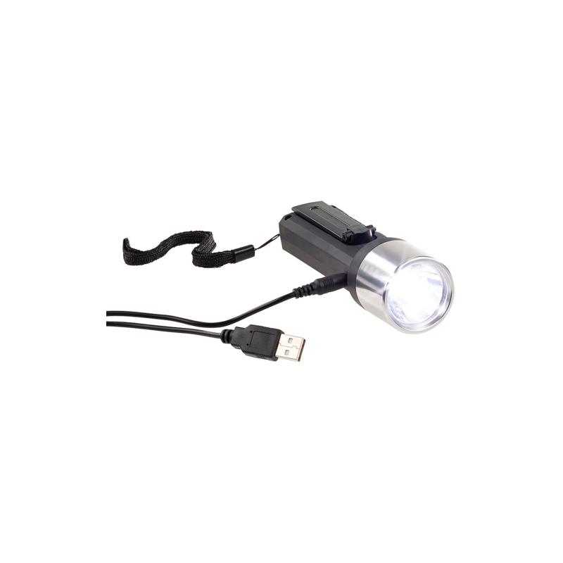 Lunartec Lampe de poche dynamo et USB à LED 80 lm