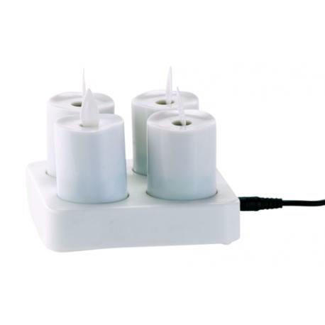 fausses bougies led flamme vacillante t l commande et batterie. Black Bedroom Furniture Sets. Home Design Ideas
