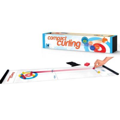 Mini jeu de curling et bowling compact : jouet fun famille
