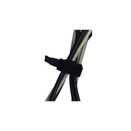 20 Gaines flexible pour câbles à scratch - Noire - 17 cm
