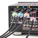 Clips étiquettes pour identification de câble vidéo / réseau