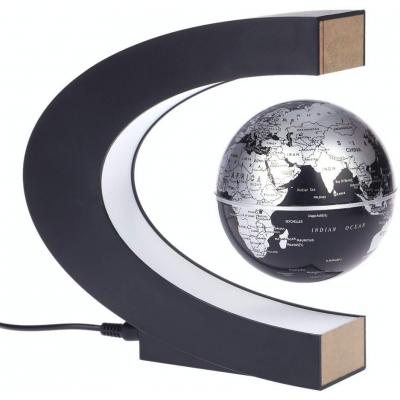 Globe terrestre en lévitation magnétique sur potence